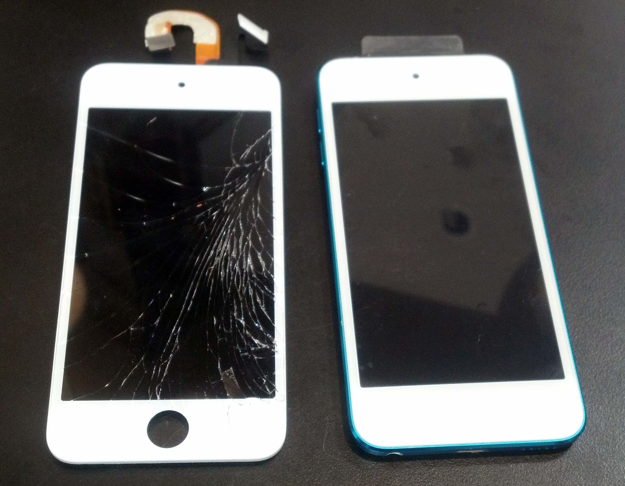 Completed repair of an ipod touch